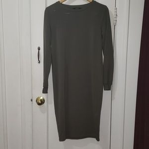 Forever 21 army green sweater dress